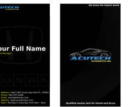 Nro 16 kilpailuun Design some Business Cards for acutech automotive inc using existing logo käyttäjältä oswaldvillarroel