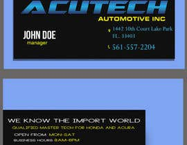 nº 7 pour Design some Business Cards for acutech automotive inc using existing logo par Fidelism