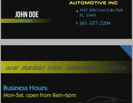 #32 for Design some Business Cards for acutech automotive inc using existing logo by Fidelism
