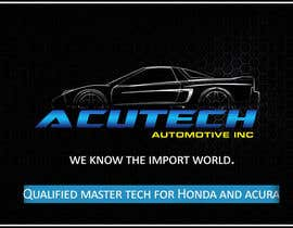 Nro 18 kilpailuun Design some Business Cards for acutech automotive inc using existing logo käyttäjältä Saadyarkhalid