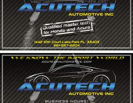#47 for Design some Business Cards for acutech automotive inc using existing logo by DLemee