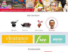 TheWebChef tarafından Design a Website Mockup for Children Party & Entertainment için no 14