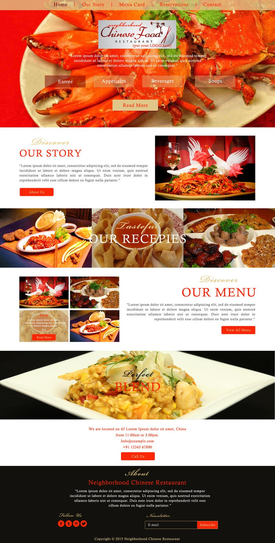 Entry 3 By Ravinderss2014 For Design A Website Mockup For A Chinese Restaurant Freelancer