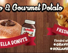 #46 untuk Design a Banner for Dough-loco & the gourmet potato 1 oleh jonapottger