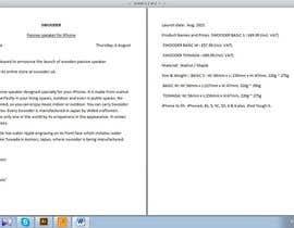 #5 untuk Press release writing -  iPhone speaker oleh lurmer11