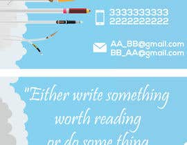 KareemEssam94 tarafından Design a Business Card for a Professional Writer. için no 23