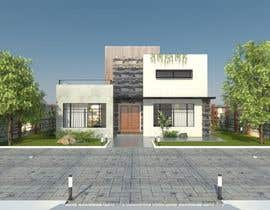 #33 untuk Redesign my house and render with a modern flat roof with parapet wall oleh biodomo