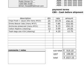 #3 untuk Design five blank Invoices in HTML and CSS oleh formasters777