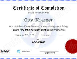 #22 para I need a certificate designing for an exam - EASY por mkdoluweera