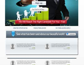 #35 for Recruitment website home page design af WebDesignze
