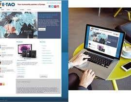 #6 untuk Design a Joomla Website Mockup for www.e-tao.eu oleh omartinez2953