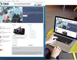 #9 untuk Design a Joomla Website Mockup for www.e-tao.eu oleh omartinez2953