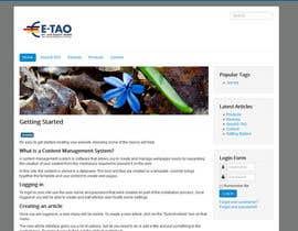 #1 untuk Design a Joomla Website Mockup for www.e-tao.eu oleh carstec