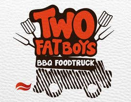 #22 untuk Design a Logo for  2 Fat Boys bbq foodtruck oleh Motsomi
