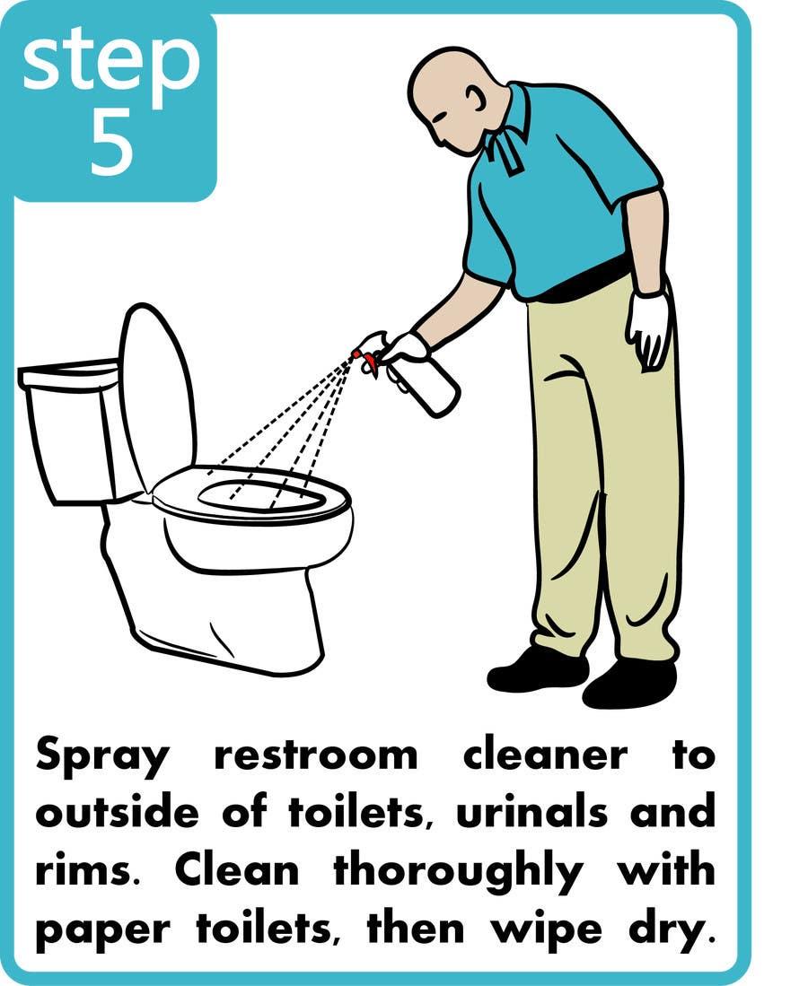 Penyertaan Peraduan #7 untuk Illustrate Something for Restroom Cleaning TRAINING manual