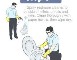 #2 untuk Illustrate Something for Restroom Cleaning TRAINING manual oleh rockbarcellos