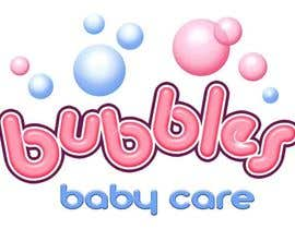 #190 para Logo Design for brand name 'Bubbles Baby Care' por richhwalsh