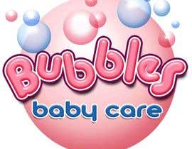 #164 para Logo Design for brand name 'Bubbles Baby Care' por richhwalsh
