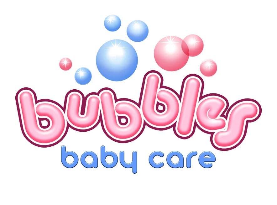 Kilpailutyö #202 kilpailussa Logo Design for brand name 'Bubbles Baby Care'
