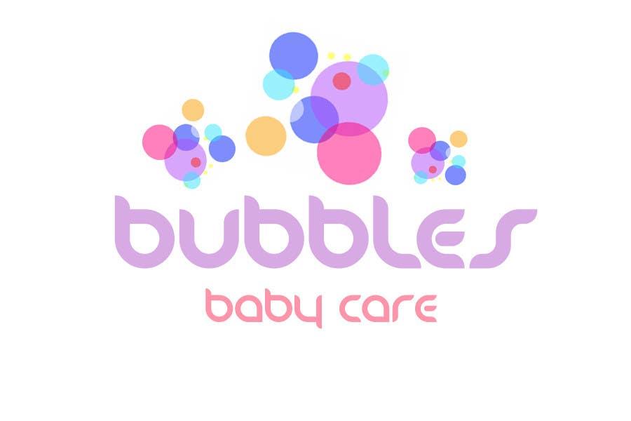 Kilpailutyö #204 kilpailussa Logo Design for brand name 'Bubbles Baby Care'