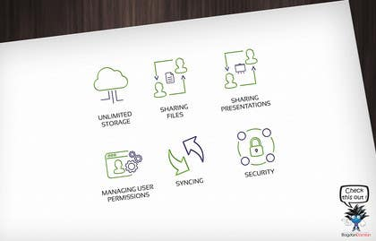 #41 untuk Design some Icons for file share service oleh BDamian