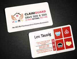 #25 untuk Design some Business Cards for Claimguard oleh AlexTV