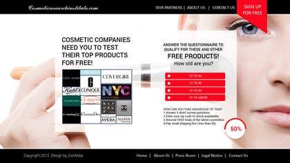#43 untuk Design a Website Mockup for Cosmetic Research Institute oleh zicmedia
