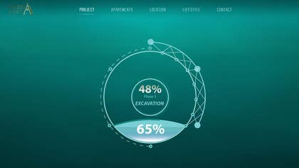 #34 untuk Design progress clock for international website oleh logodesire