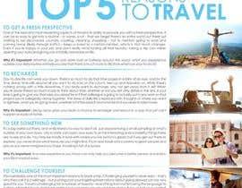 "designciumas tarafından ""5 Reasons to Travel"" banner needed için no 8"