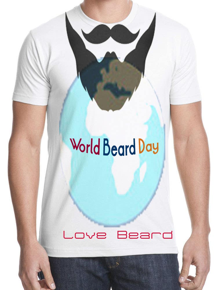 581d947ee431 Entry #37 by gdesigener for Design World Beard Day Themed T-Shirt ...