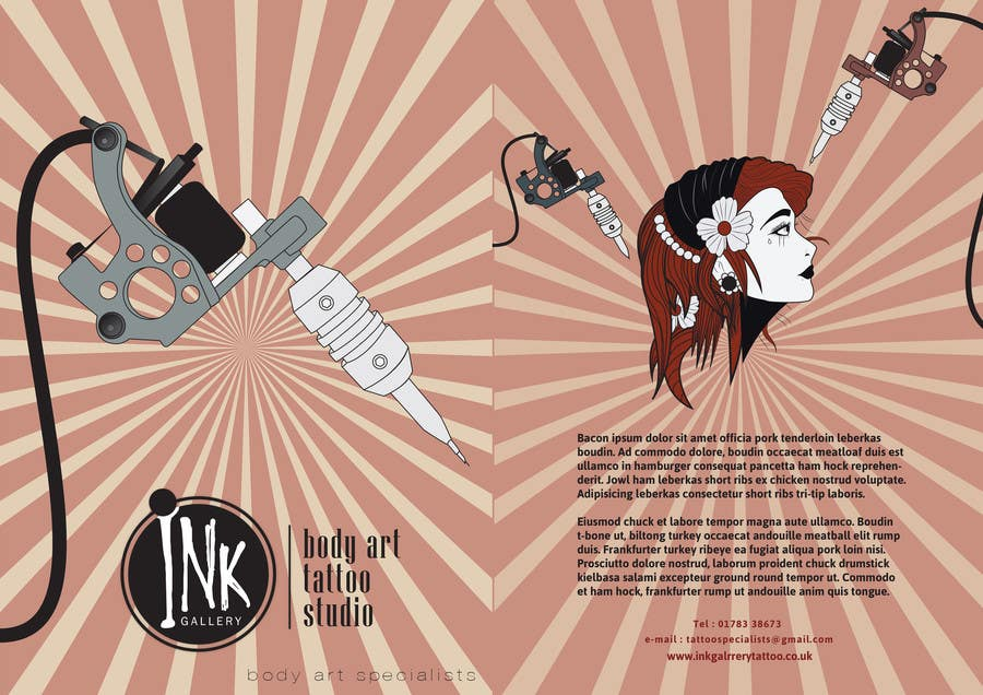 #5 for Design a Flyer for Ink Gallery by SimonMerritt
