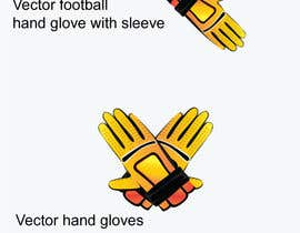 #20 untuk Graphic Design For Custom Football Gloves oleh GraphicLauncher
