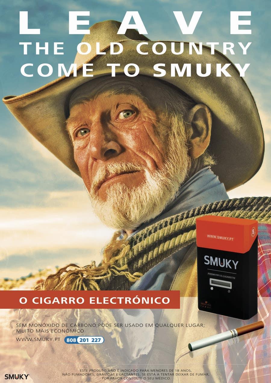 Kilpailutyö #                                        112                                      kilpailussa                                         Magazine Advertisement for SMUKY