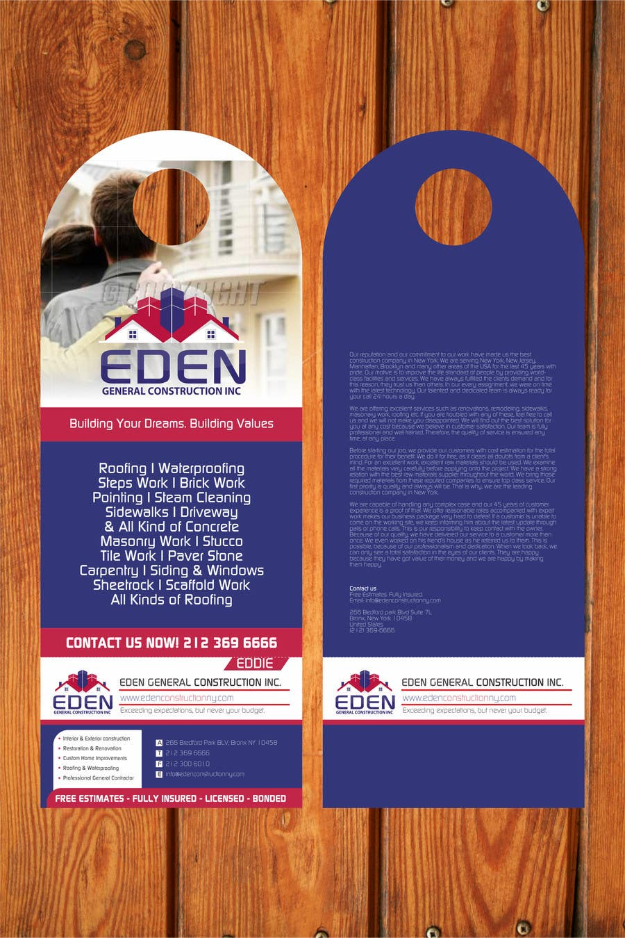 Bài tham dự cuộc thi #                                        23                                      cho                                         Design a Flyer for a general contractor
