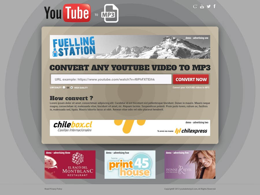 #42 for Youtube to MP3 Converter Website by hipnotyka