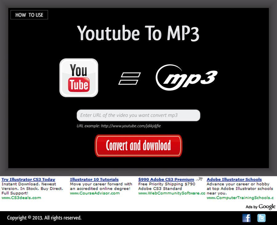 #37 for Youtube to MP3 Converter Website by macper