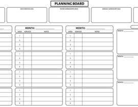 #7 untuk Illustrate a Large Scale Planning Board and Calendar that we can use to track our Marketing oleh niceclickptc