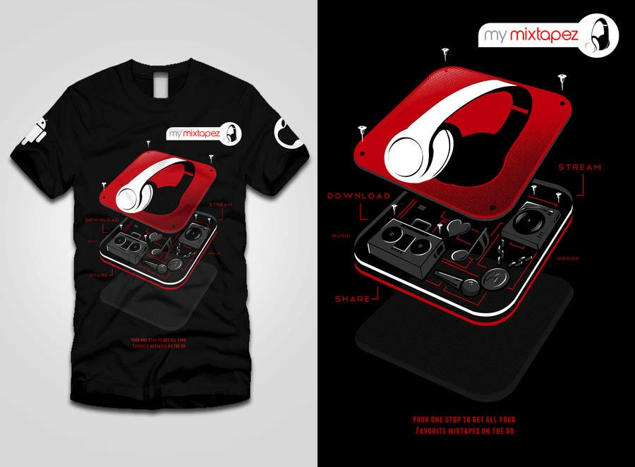 #44 for Design a T-Shirt for My mixtapez by bamz23