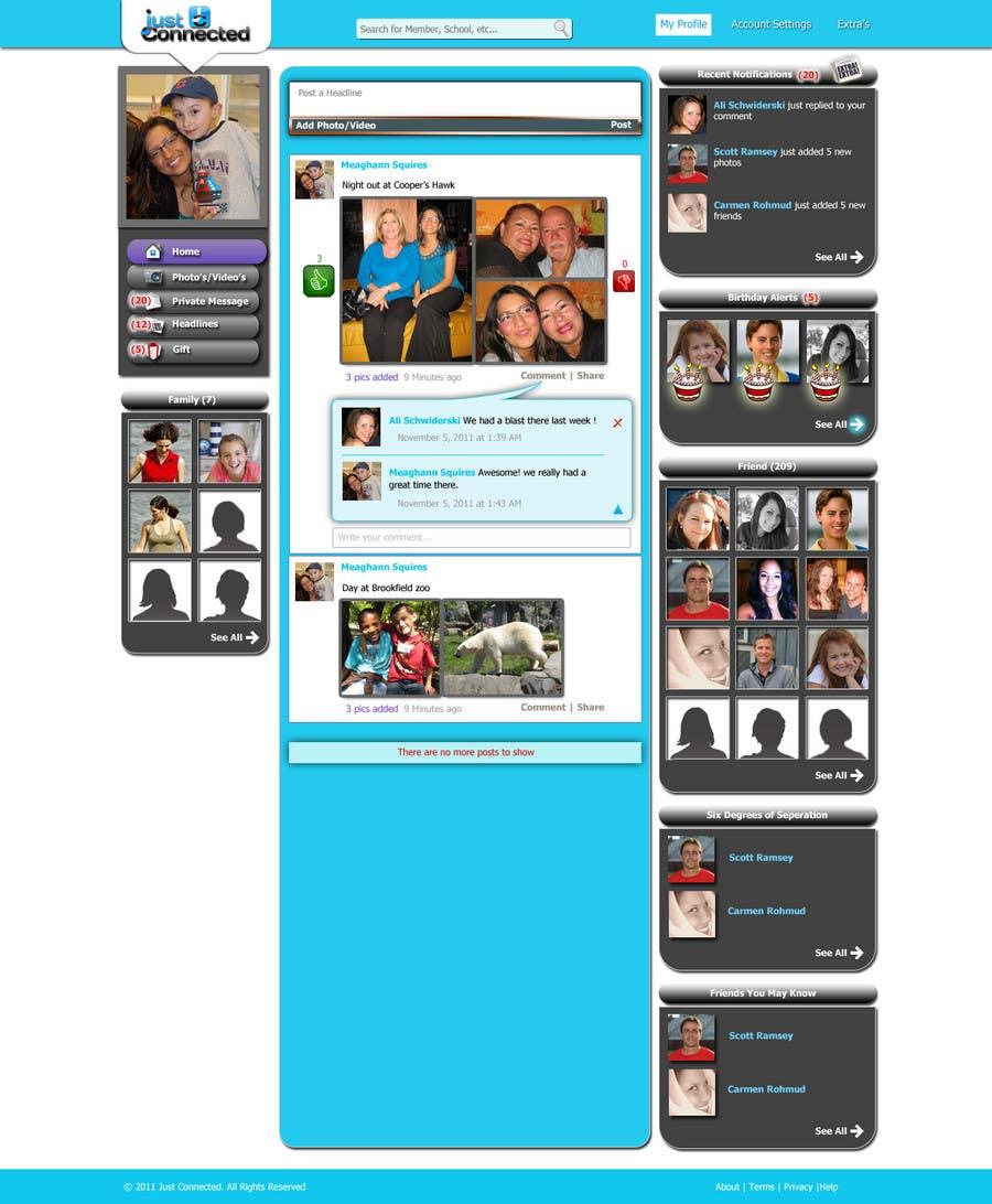 Inscrição nº 40 do Concurso para Graphic Design for Home Page for Website