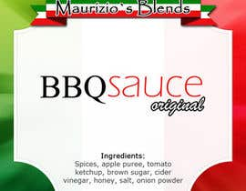 #20 untuk Design one label for sauce bottles oleh beltranbg