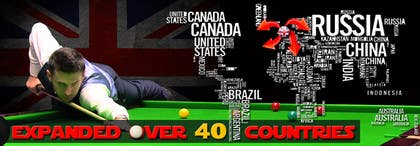 #10 untuk Design a Banner for a Snooker Website oleh zbigniew72