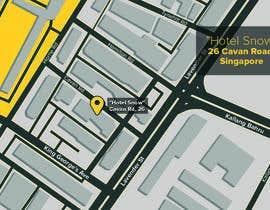 #22 untuk Draw a location map of my hotel for printing oleh alekchapel