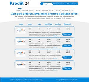 #8 for Create a Layout/Design for PayDay Loan Comparison Website by gravitygraphics7