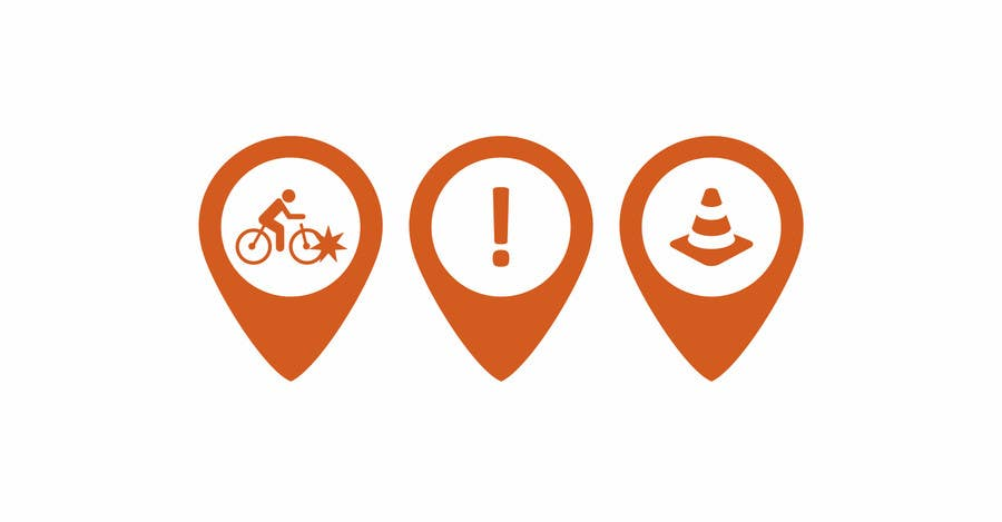 Penyertaan Peraduan #55 untuk Design some safety icons for a map on our website