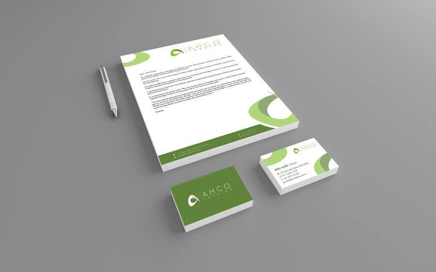 #12 for Ahco Trading - Business Card & Letterhead Template by raywind