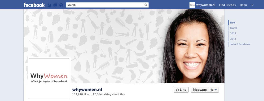 #29 for Design a Facebook landing page for whywomen.nl by jakuart