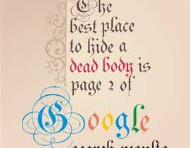 "artist4 tarafından Design me a poster. ""Best place to hide a dead body is page 2 için no 136"