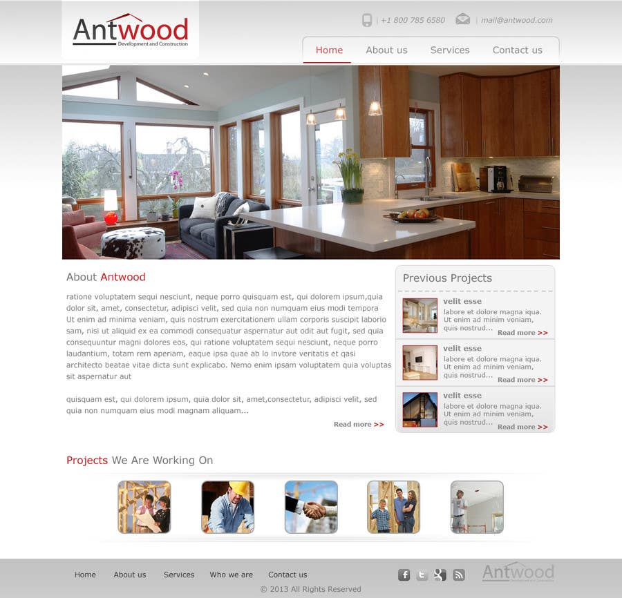 Contest Entry #20 for Build a Website for Antwood Construction