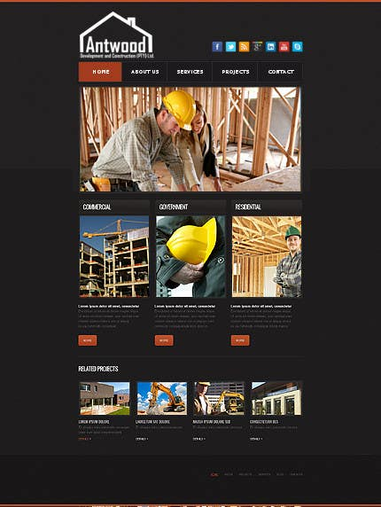 Contest Entry #6 for Build a Website for Antwood Construction