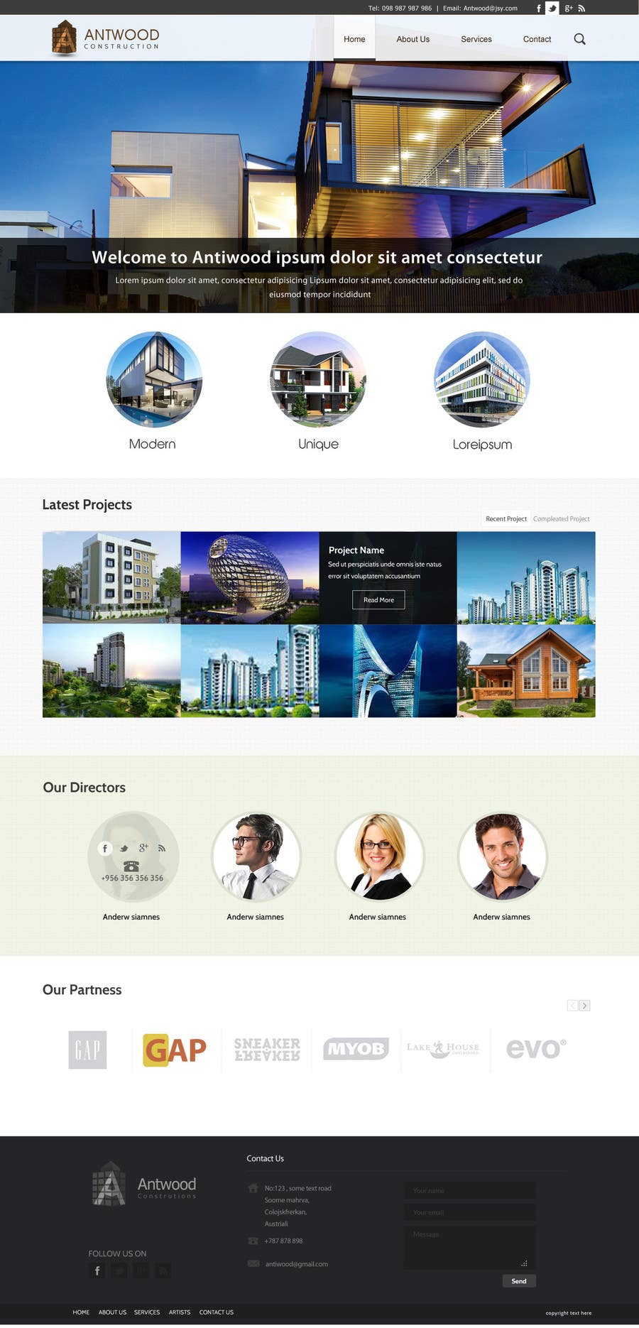 #60 for Build a Website for Antwood Construction by SadunKodagoda